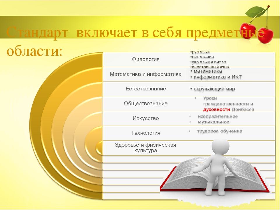 Стандарт включает в себя предметные области: