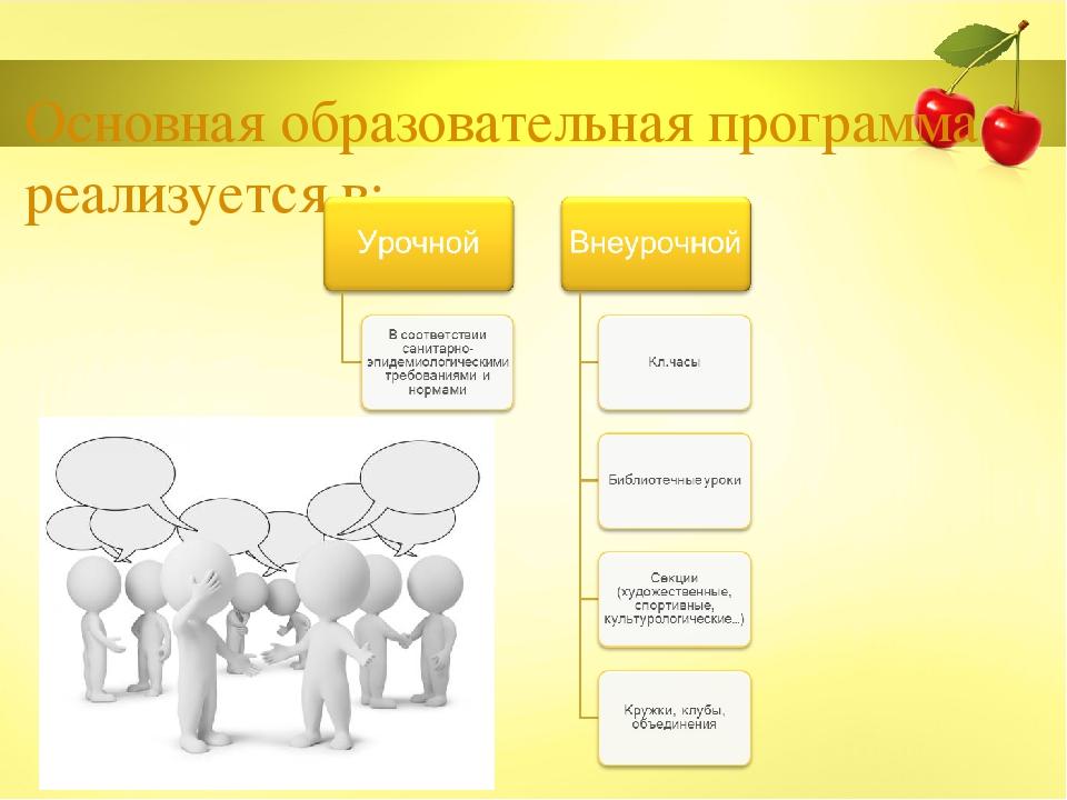 Основная образовательная программа реализуется в: