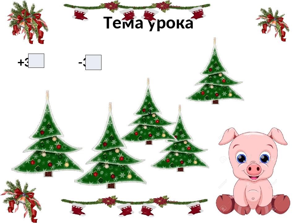 Тема урока +3 -3 -3 -3