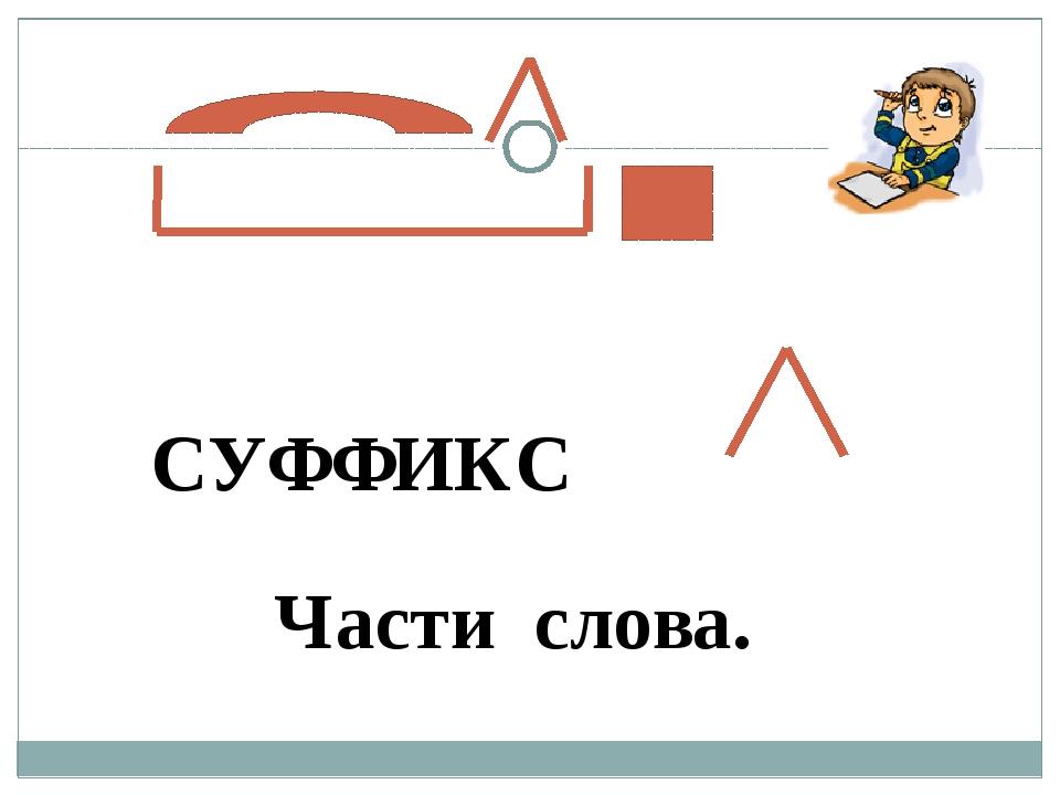 СУФФИКС Части слова.